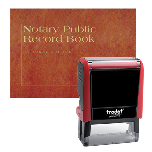 Notary Supplies Value Package (All States) - Includes P4 Notary Stamp