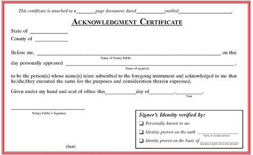 Oklahoma Notarial Certificate Pads