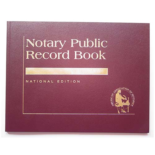 Oklahoma Contemporary Notary Public Record Book - (with thumbprint space)