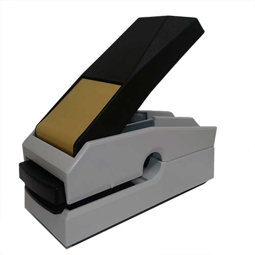 This award-winning, Canadian-made seal embosser is designed to create a lasting raised notary impression on any kind of paper with ease and comes with a life-time replacement guarantee. This Oklahoma notary seal embosser is designed to allow embossing anywhere on a document where a standard embosser cannot reach. Creates notary seal impressions of 1-5/8 inches.
