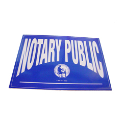 Increase sales and identify yourself as a Oklahoma notary public by applying these double-sided notary decals on any glass surface. These decals can be viewed from either side of the glass and can be applied and removed with ease. Decal size is 5 X 7 inches.</title></title>