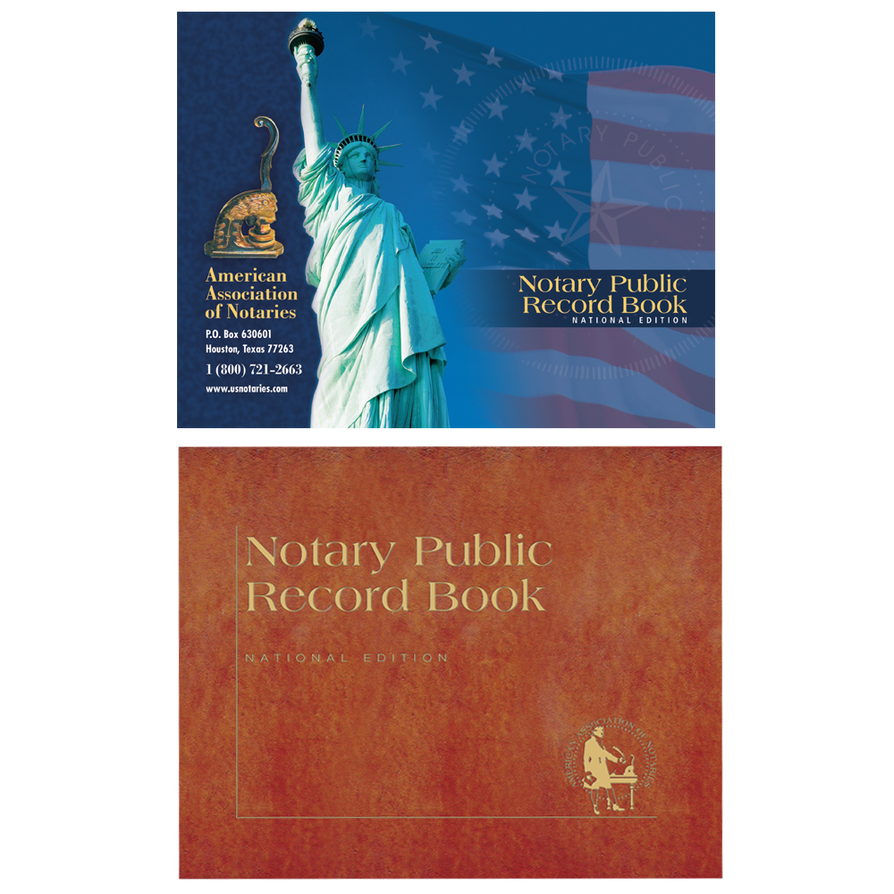 Oklahoma Notary Public Record Book - (448 entries with thumbprint space)