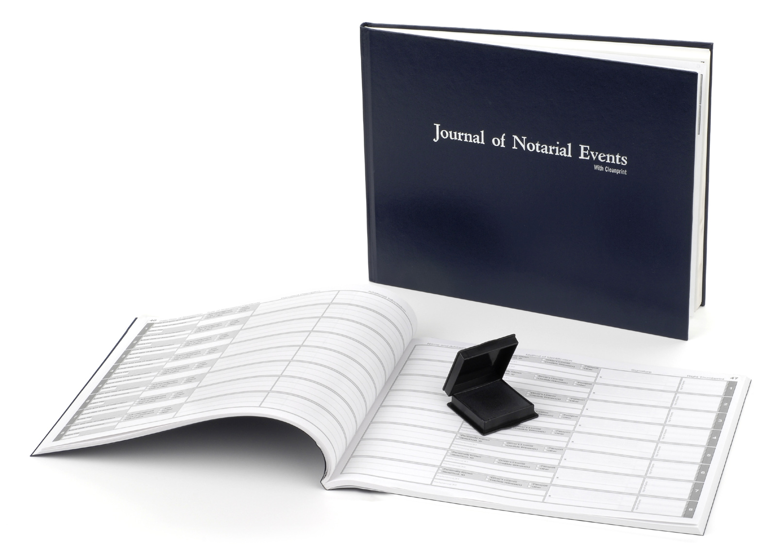 Oklahoma Hard Cover Notary Journal with Inkless Thumbprint Pad